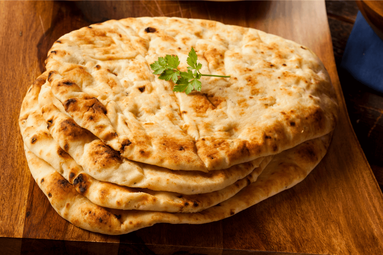 Naan from the Indian subcontinent